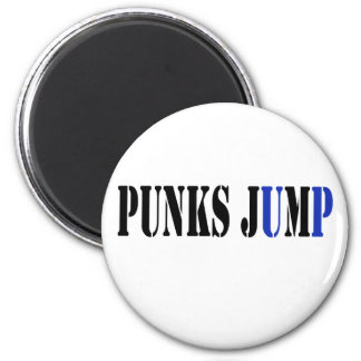 Punks jump up to get beat down refrigerator magnet