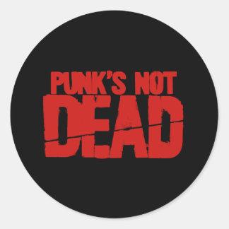 Punks no absolutamente pegatina redonda