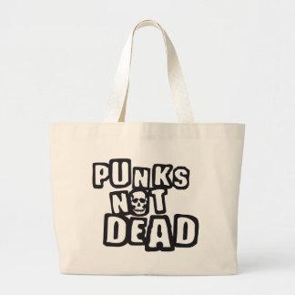 punks not dead bolsa tela grande