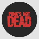 Punks Not Dead Classic Round Sticker