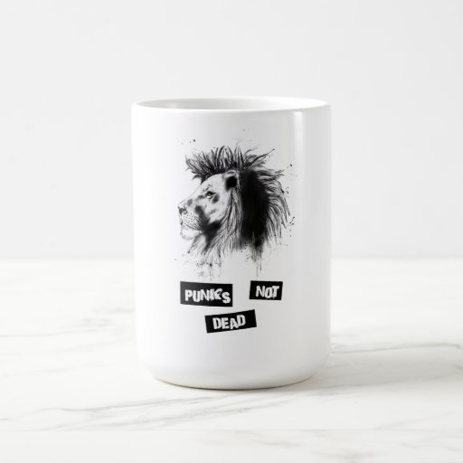punks not dead coffee mug