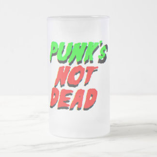Punk's Not Dead! Frosted Glass Beer Mug