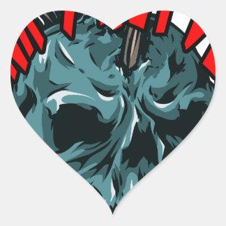 Punk's Not Dead Heart Sticker
