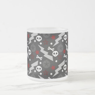 Punkstyle cup with skulls
