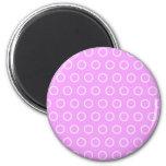 pünktchen lila rosa puntúa pink polka dots tocan l imán redondo 5 cm