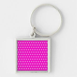pünktchen pink polka (varios productos elegido) llavero cuadrado plateado
