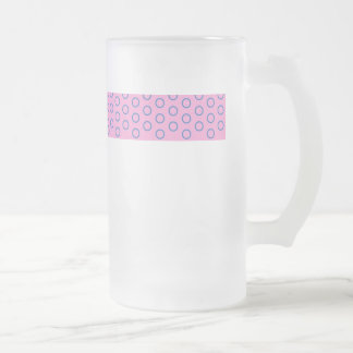 pünktchen purple pink pink scores polka dots dabs frosted glass beer mug