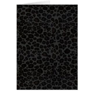 Punky Black Leopard Print Card