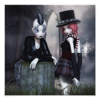 Punky Goths Canvas/Poster Print