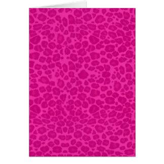 Punky Hot Pink Leopard Print Card