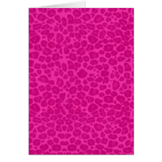 Punky Hot Pink Leopard Print Cards