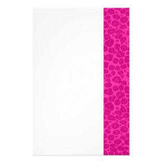 Punky Hot Pink Leopard Print Stationery