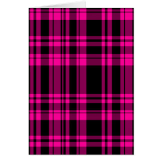 Punky Hot Pink Plaid Card