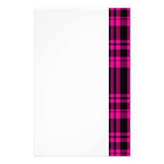 Punky Hot Pink Plaid Stationery