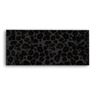 Punky Leopard Print Black & Hot Pink Envelope