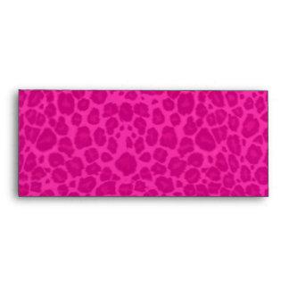 Punky Leopard Print Hot Pink & Black Envelope