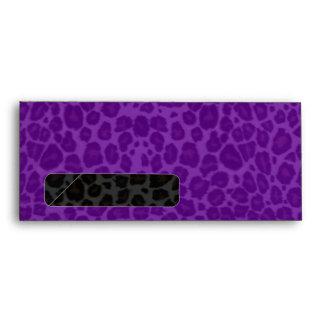 Punky Leopard Print Purple & Black Envelope