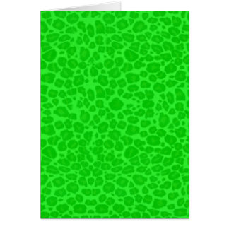 Punky Neon Green Leopard Print Greeting Cards