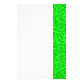 Punky Neon Green Leopard Print Stationery