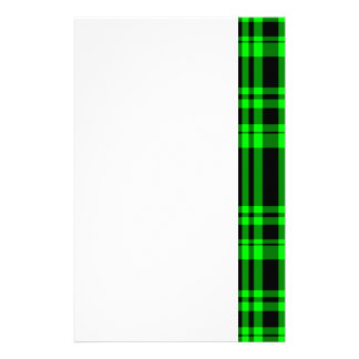 Punky Neon Green Plaid Stationery