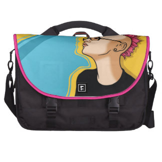 Punky Nerd Girl Messenger Bag Computer Bag