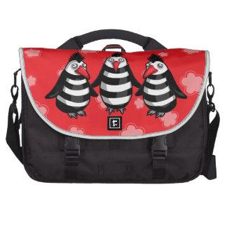 Punky Penguins Ninja Squad Laptop Computer Bag