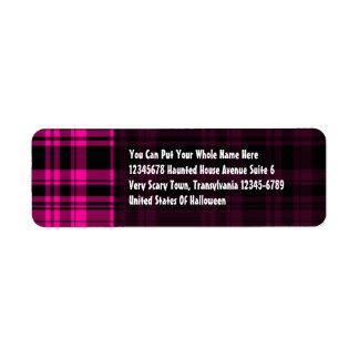 Punky Plaid Hot Pink Label