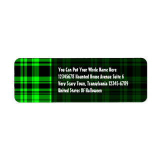 Punky Plaid Neon Green Label