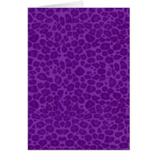 Punky Purple Leopard Print Greeting Card