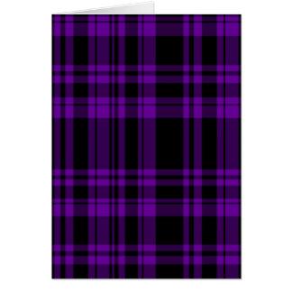 Punky Purple Plaid Card