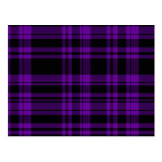 Punky Purple Plaid Postcard