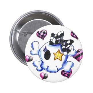 Punky Skull Pinback Button