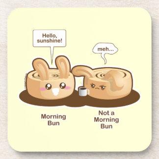 Punny Buns: Cute  Morning Bunny Coaster