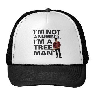 """Punny """"I´m no un número, I´m un hombre del árbol """" Gorras"""