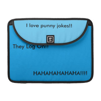 Punny internet jokes sleeve for MacBooks