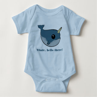 Punny Narwhal Baby Bodysuit