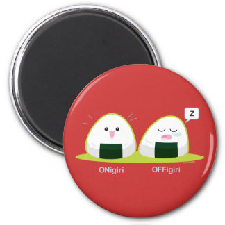 Punny Nigiri 2 Inch Round Magnet