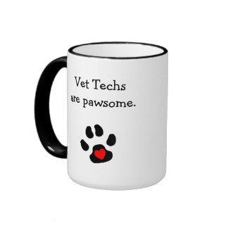 Punny Vet Tech Design Ringer Coffee Mug