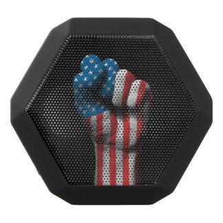Puño apretado aumentado con la bandera americana altavoces bluetooth negros boombot REX