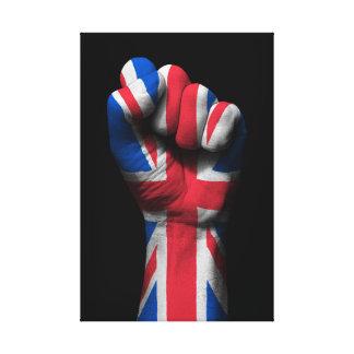 Puño apretado aumentado con la bandera de Union Impresion En Lona
