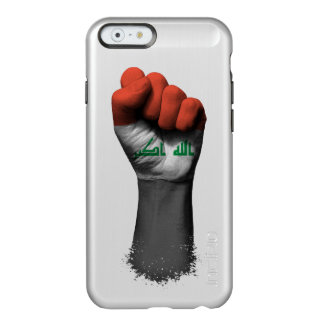 Puño apretado aumentado con la bandera iraquí funda para iPhone 6 plus incipio feather shine