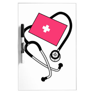 Puño de la presión arterial tablero blanco