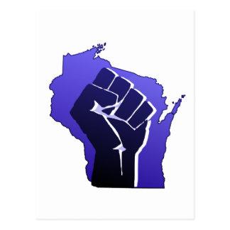 Puño de la solidaridad de Wisconsin Postal
