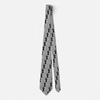 Puño de la solidaridad en estilo de la impresión corbata personalizada