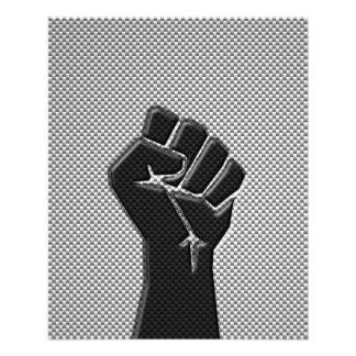 Puño de la solidaridad en estilo de la impresión tarjetón