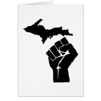 Puño de Michigan Tarjeta De Felicitación