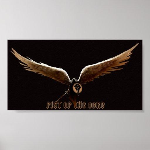 Puño del ángel del ogro de la muerte póster
