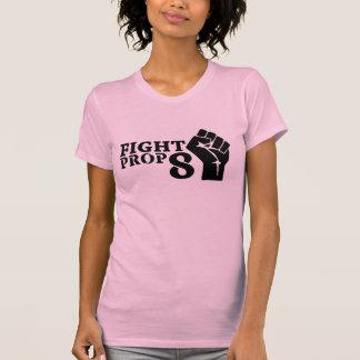 Puño del apoyo 8 de la lucha de las mujeres camiseta
