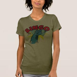 Puño del bingo camiseta