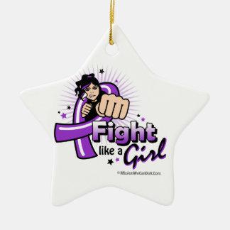 Puño del lupus - lucha como un chica ornamento para arbol de navidad